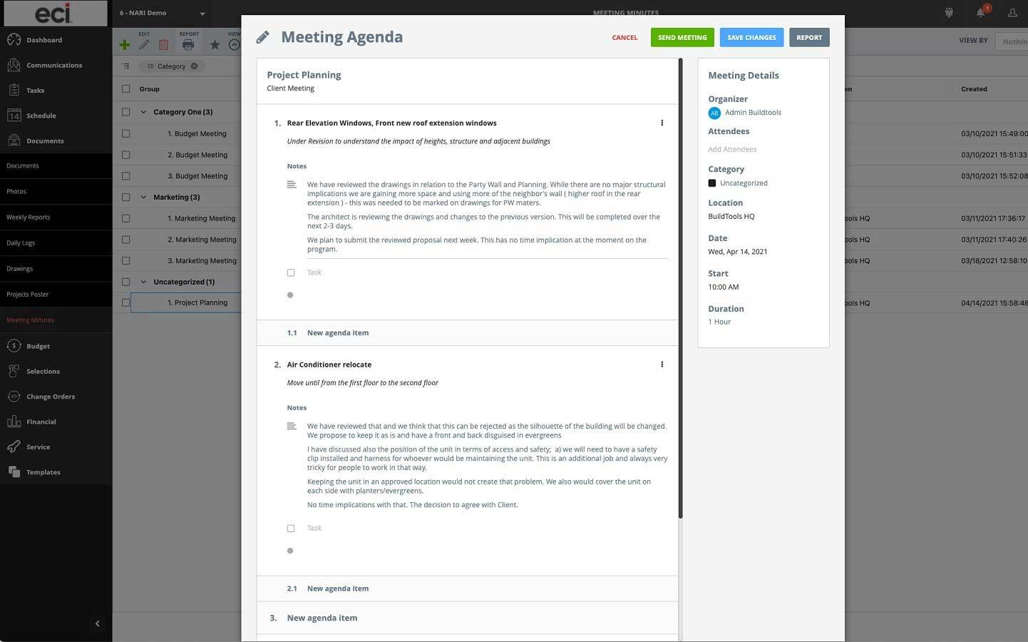Meeting Minutes - BuildTools Project Management Software